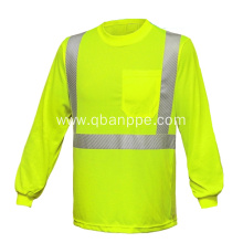 high visbility pocket long sleeve warning shirt